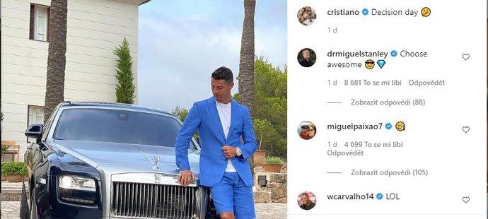 Poslední příspěvek na Instagramu Cristiana Ronalda