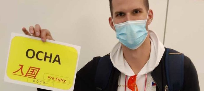 Český basketbalista Lukáš Palyza zmapoval odlet národního týmu do Tokia