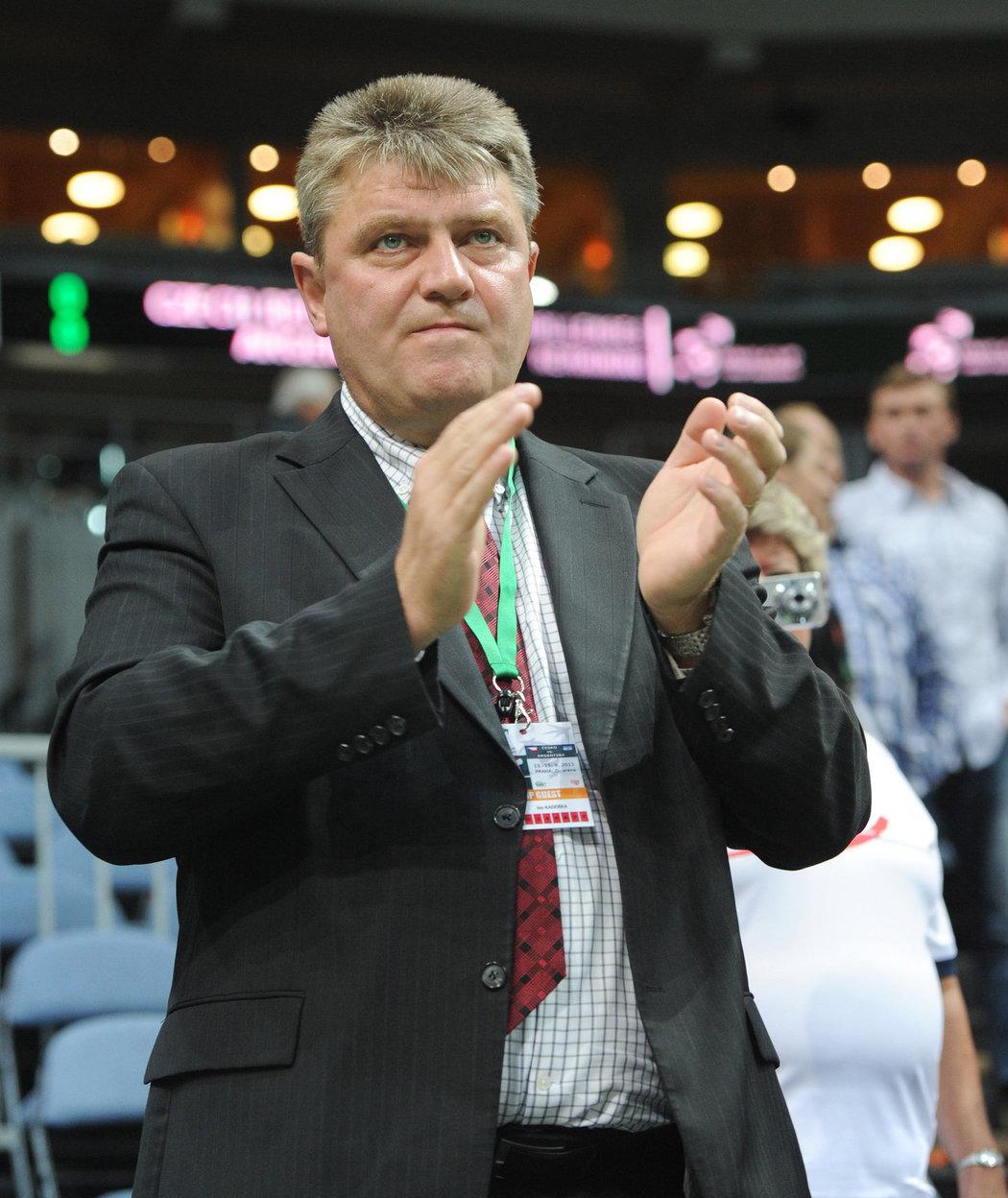 Šéf českého tenisu Ivo Kaderka na daviscupovém semifinále s Argentinou