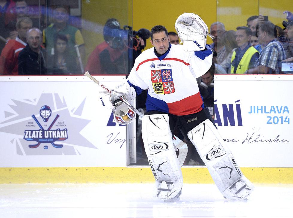 Čechmánek se v srpnu odreagoval na utkání exhibičním utkání v Jihlavě.
