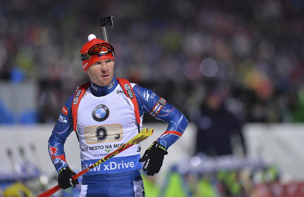 Český biatlonista Michal Šlesingr