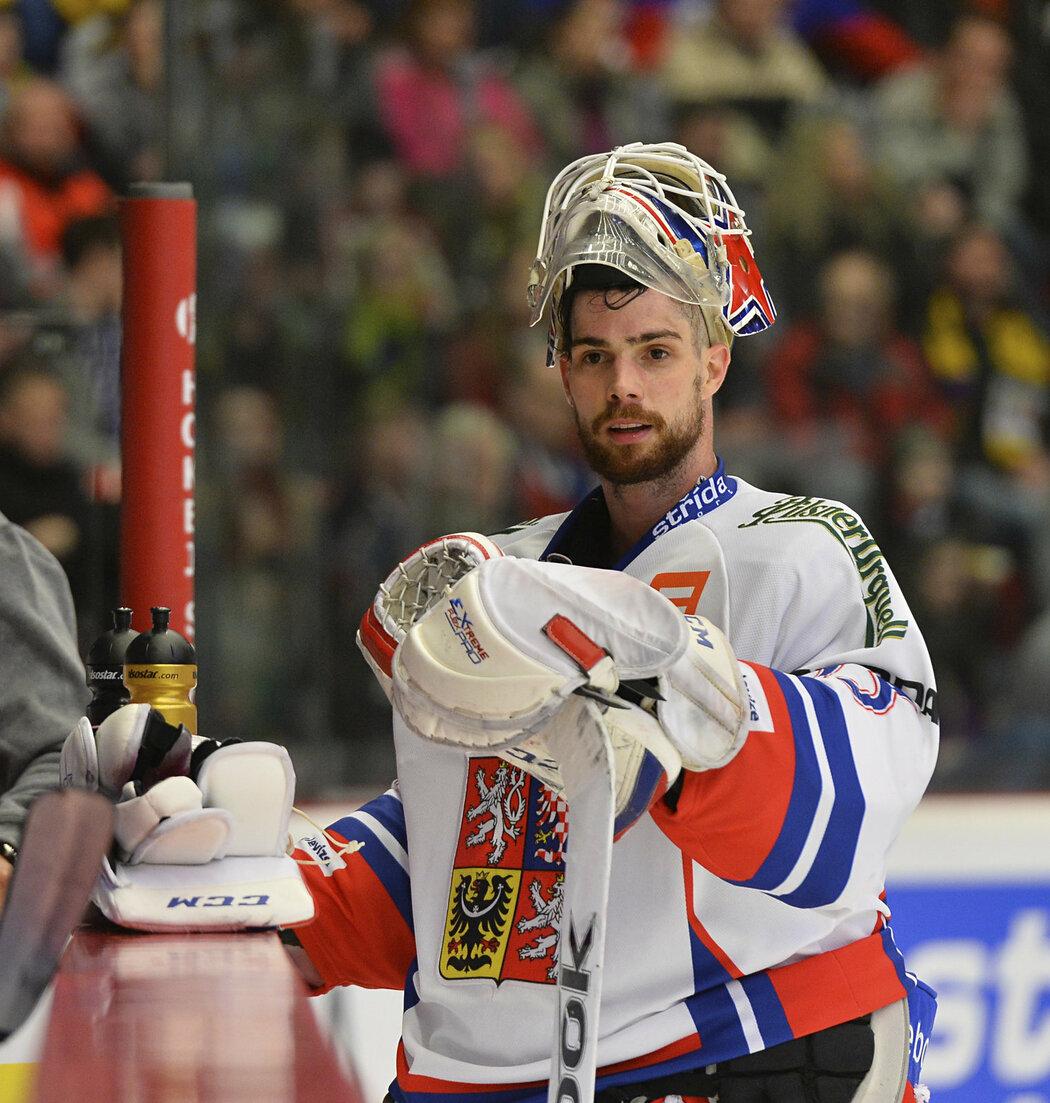 Alexander Salák při zápase EHT s Ruskem