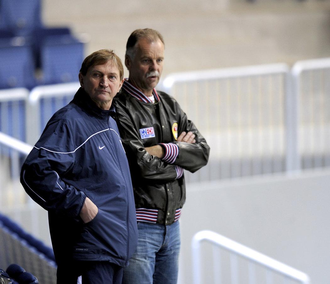 Na snímku Alois Hadamczik (vlevo) a Slavomír Lener při MS 2011