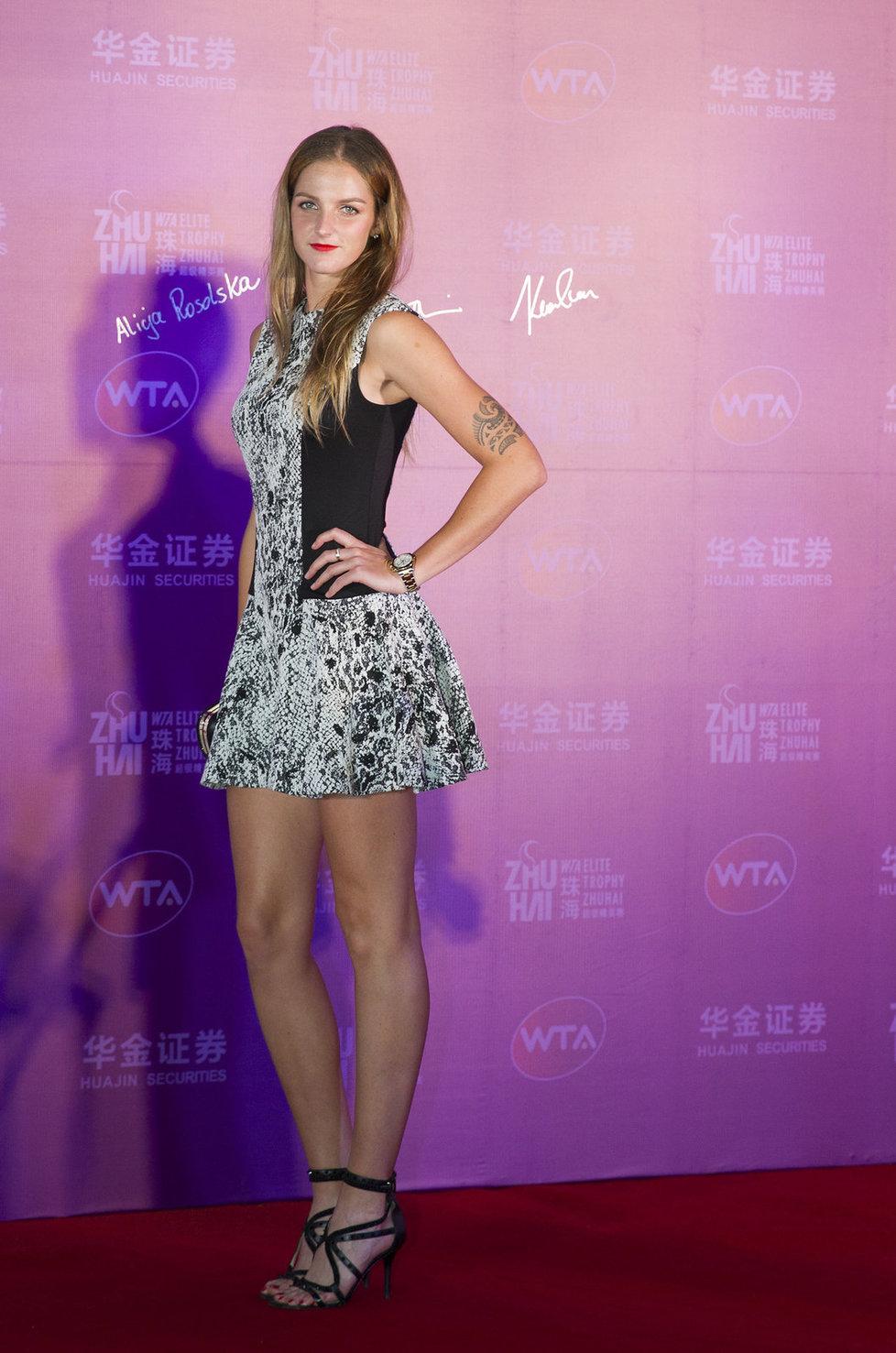 Karolína Plíšková byla na béčkovém turnaji Mistryň v Číně za sexy školačku.