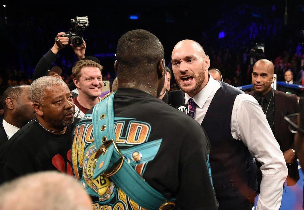 Deontay Wilder se pustil s Tysonem Furym do ostré výměny názorů