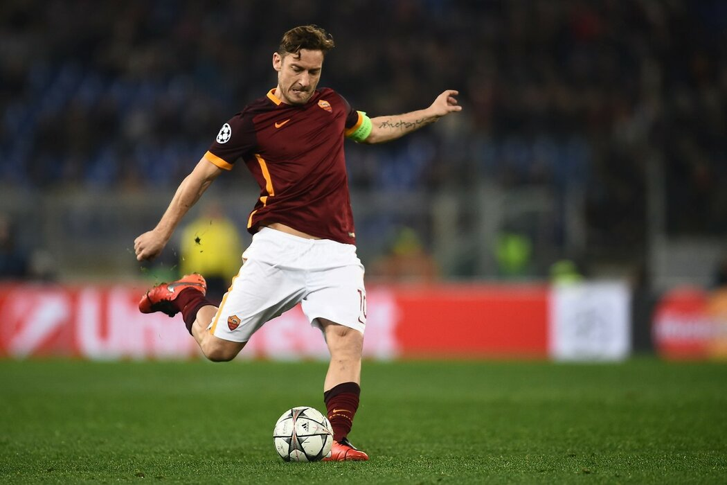 Franceso Totti byl v posledním utkání AS pouze na tribuně