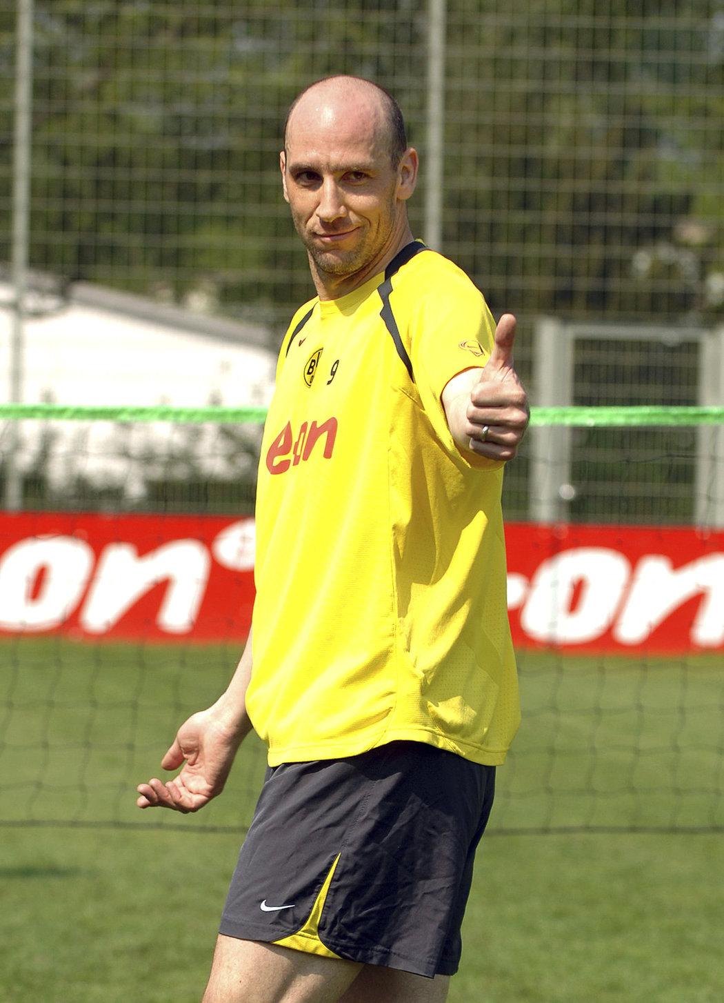 Jan Koller v dresu Borussie Dortmund.