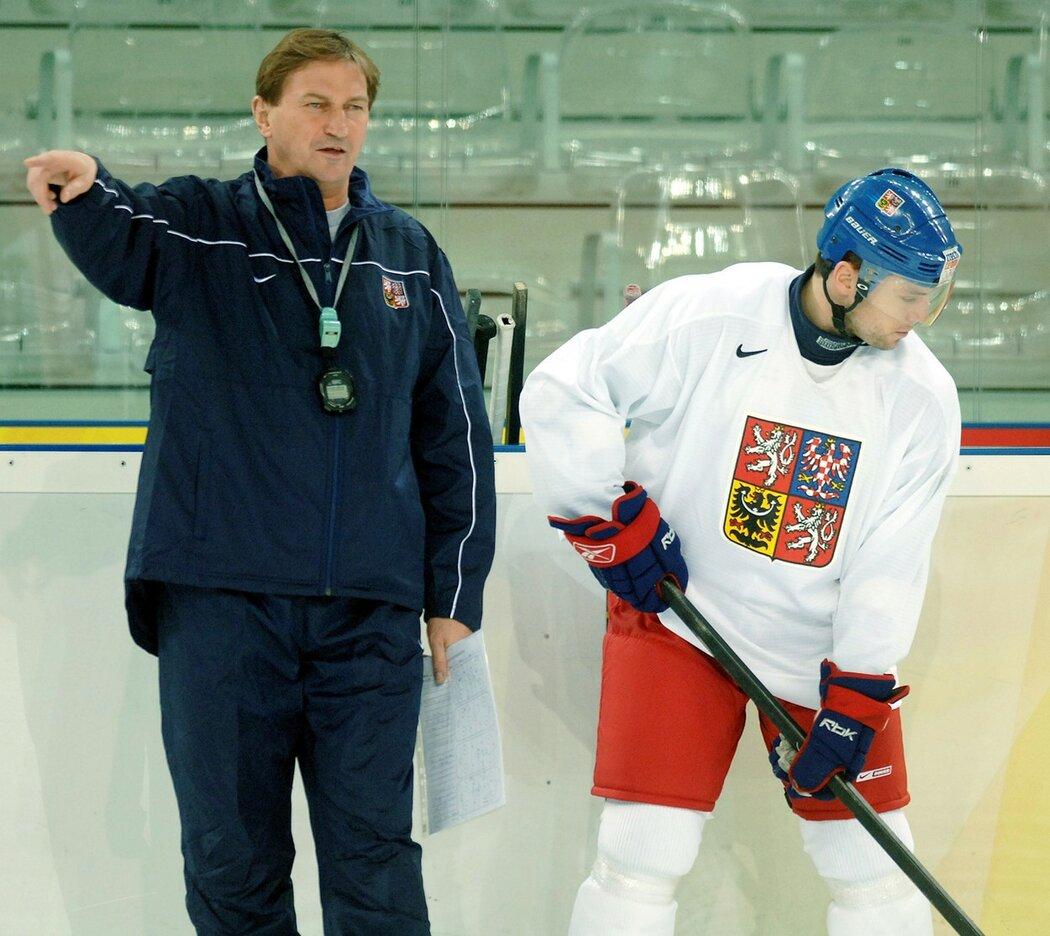 David Výborný s trenérem Aloisem Hadamczikem během olympijských her v Turíně