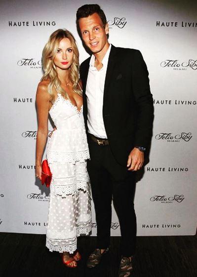 Tomáš Berdych se svojí manželkou Ester