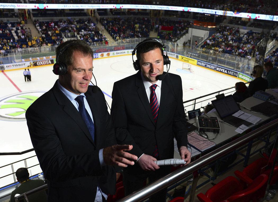 Jak se změní poměry ve vysílání hokejové extraligy? Nabízíme odpovědi na základní otázky. Na snímku Martin Hosták a Robert Záruba.