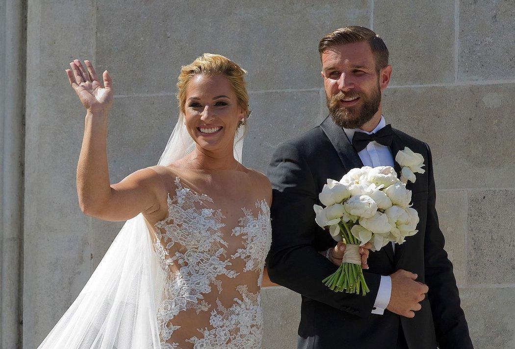 Krásná slovenská tenistka Dominika Cibulková na své svatbě