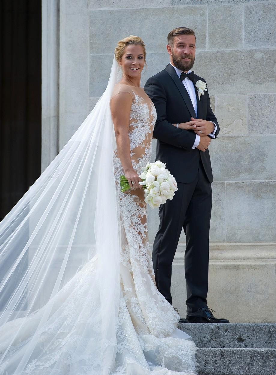 Dominika Cibulková s svým manželem Michalem Navarou