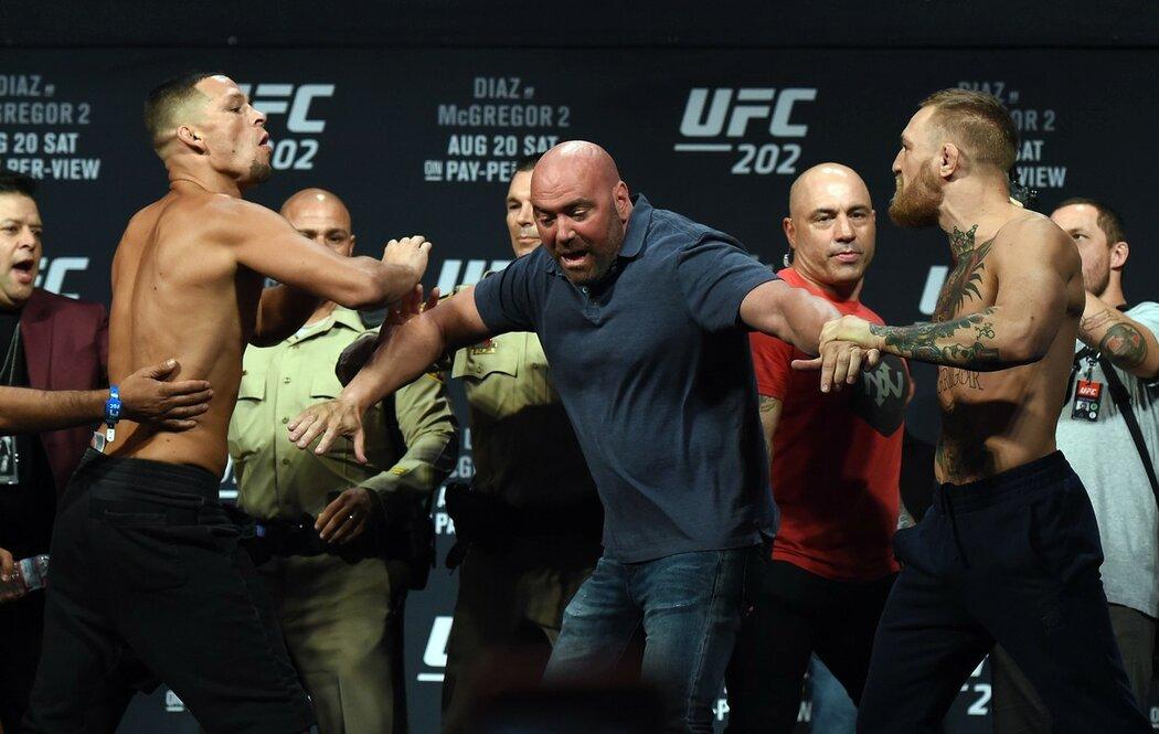 Conor McGregor se s Natem Diazem málem porval už na vážení