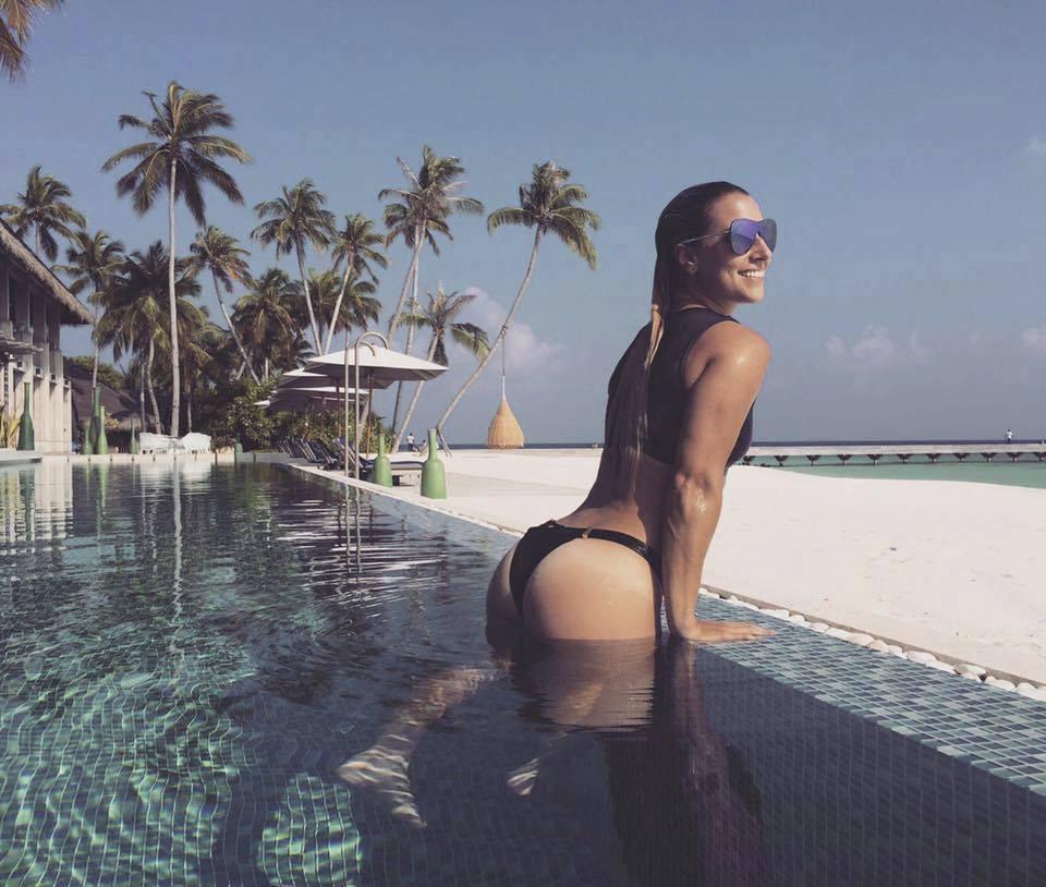 Dominika Cibulková na dovolené na Maledivách.