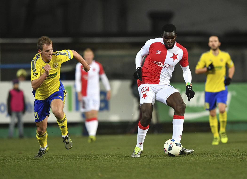 Michael Ngadeu v zápase proti Zlínu