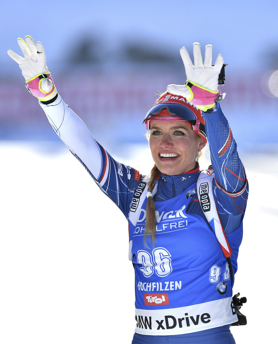 Česká biatlonistka měla ze svého triumfu na MS obrovskou radost