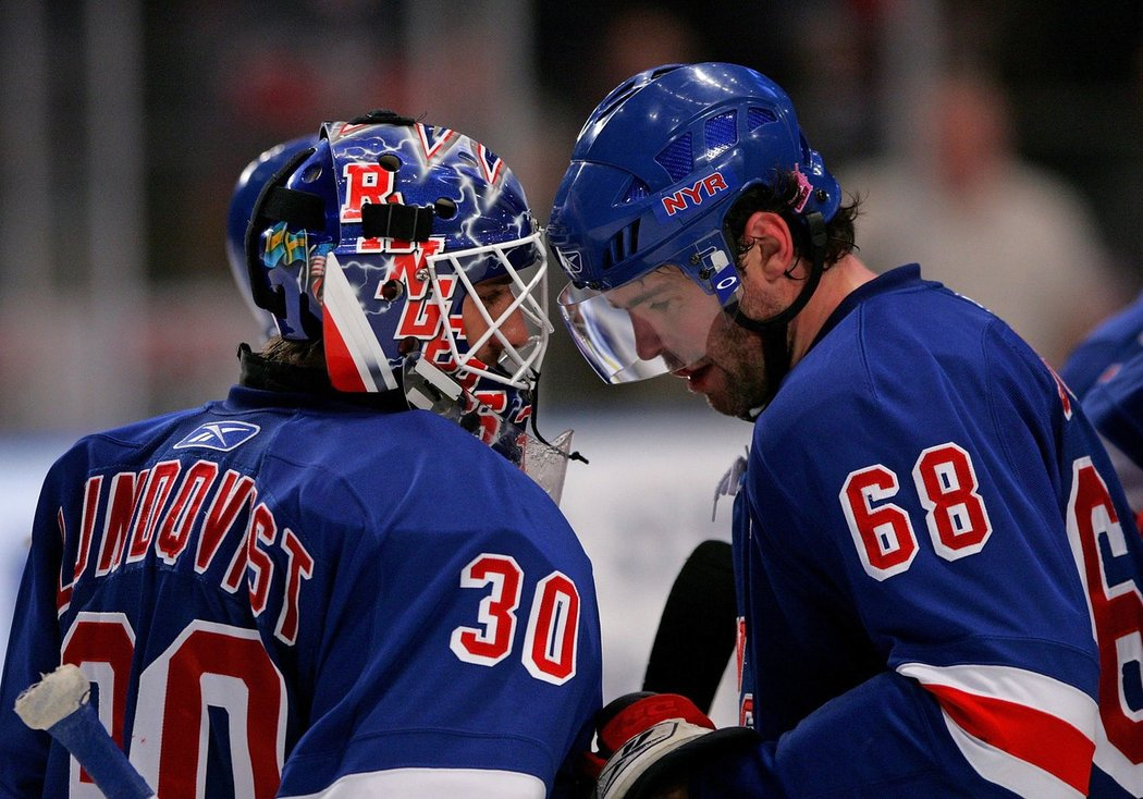 Henrik Lundqvist a Jaromír Jágr se potkali v kabině New York Rangers mezi léty 2005 až 2008, přidají další epizodu?