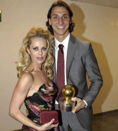 Zlatan Ibrahimovic s manželkou Helenou Segerovou.
