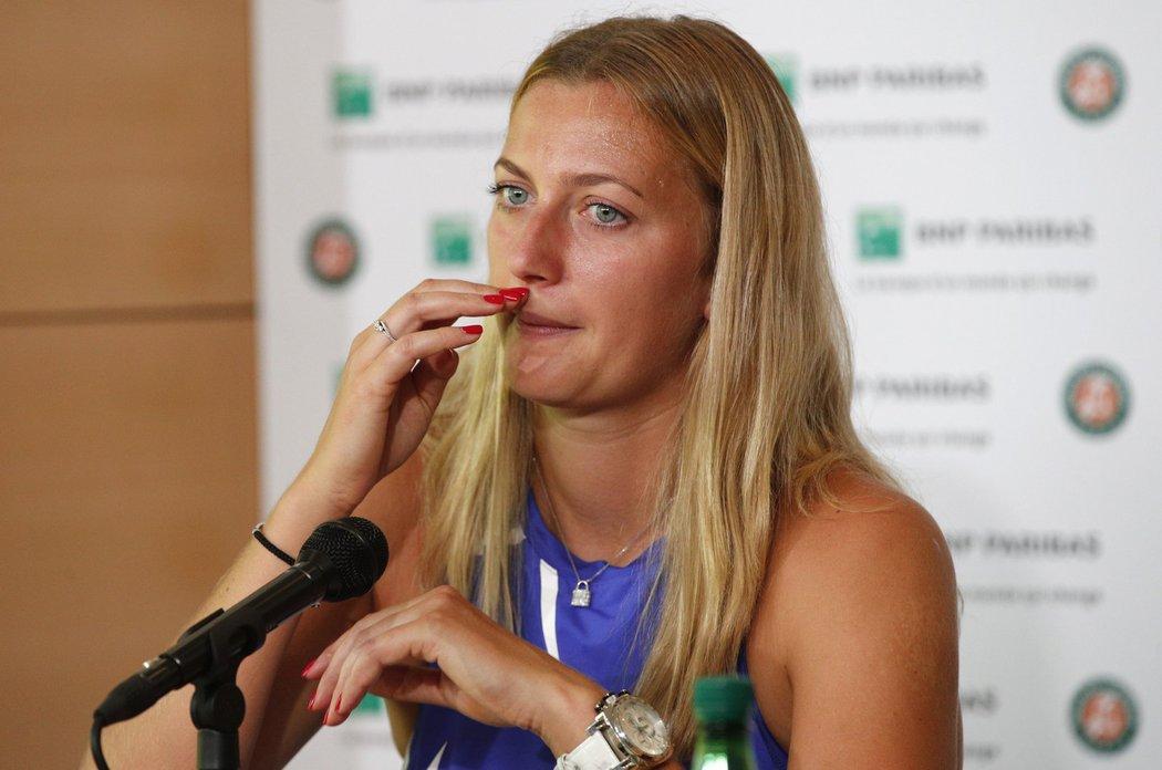 Petra Kvitová na tiskové konferenci před French Open