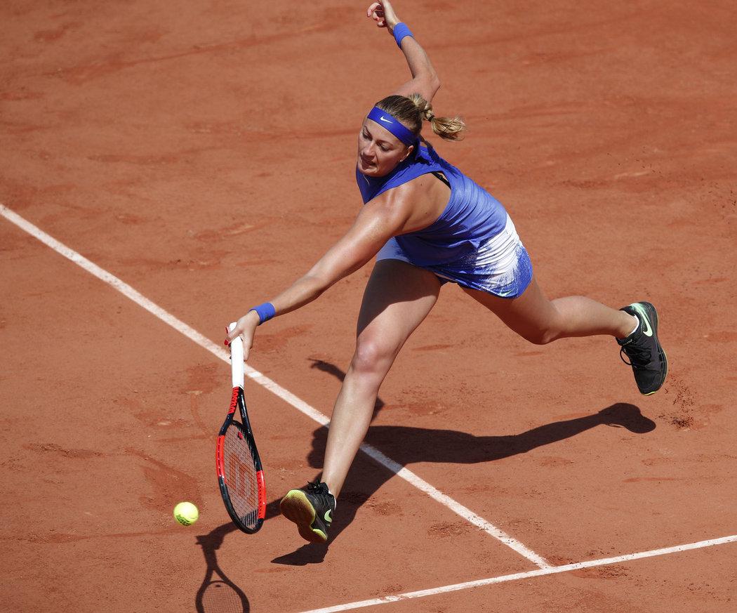 Petra Kvitová v zápase druhého kola s Mattekovou-Sandsovou