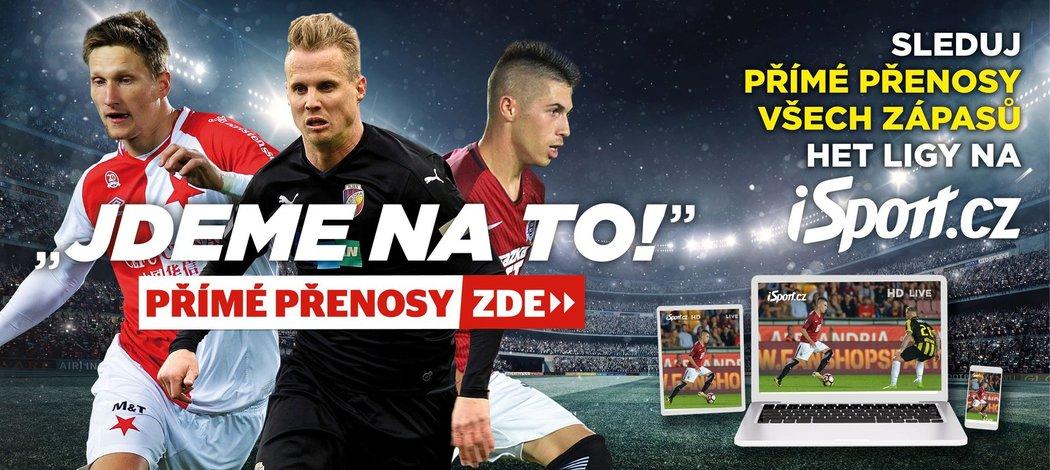 Přímé přenosy a sestřihy z HET ligy sledujte v HD kvalitě pouze na webu iSport.cz