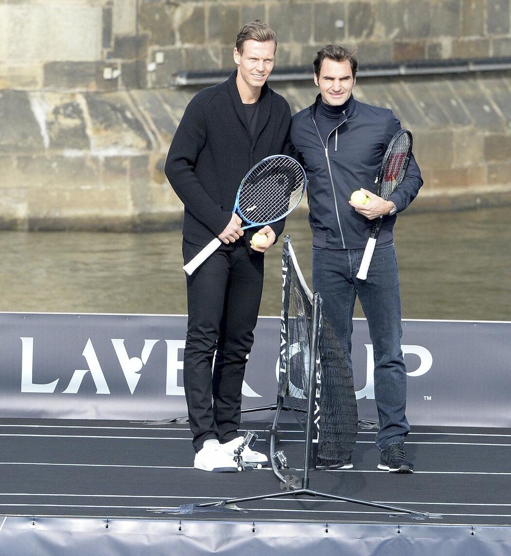 Tomáš Berdych a Roger Federer budou ozdobami v pátek startujícího Laver Cupu