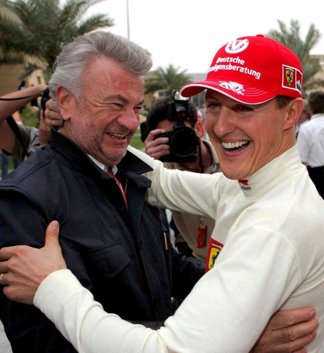 Michael Schumacher a Willi Weber dosáhli společně velkých úspěchů