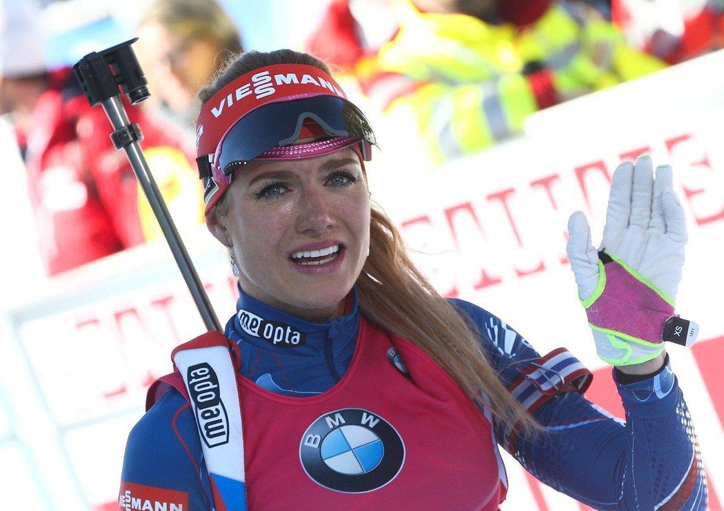 Biatlonistka Gabriela Koukalová v dobách velkých úspěchů