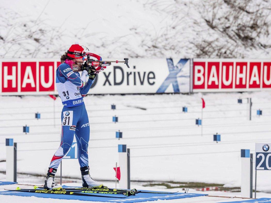 Veronika Vítková si vedla výborně i na střelnici