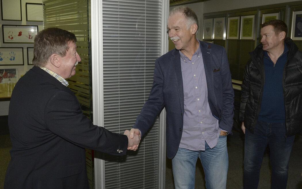 Do redakce deníku Sport dorazili také Vladimír Martinec a Slavomír Lener