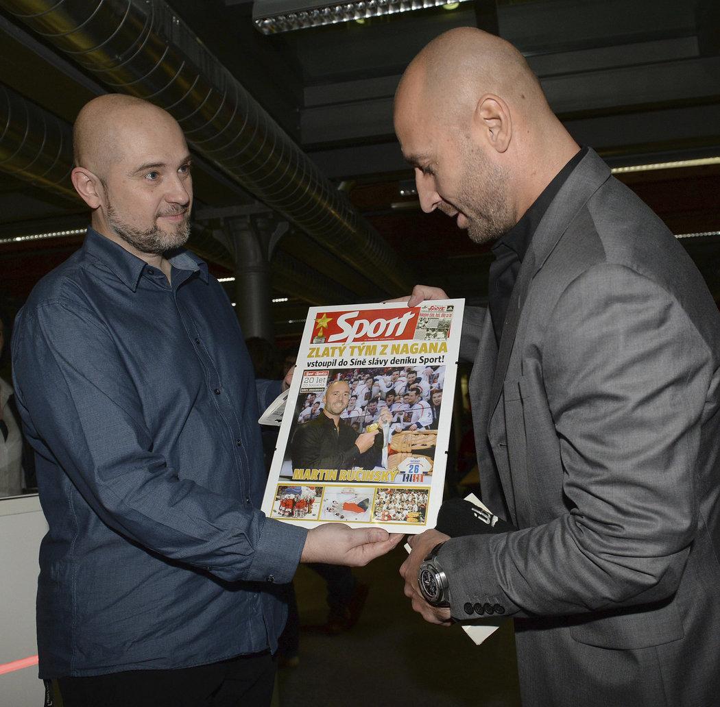 Do redakce deníku Sport dorazil také Martin Ručinský