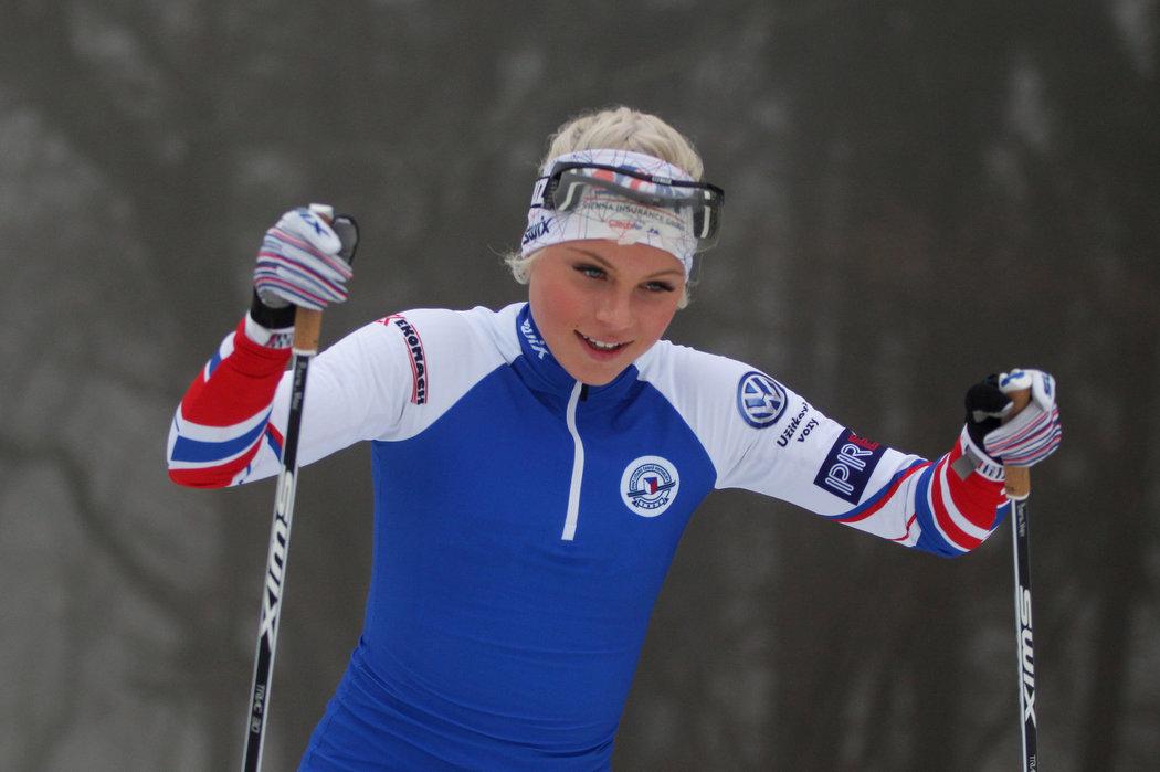 Nadějná běžkyně na lyžích Barbora Havlíčková