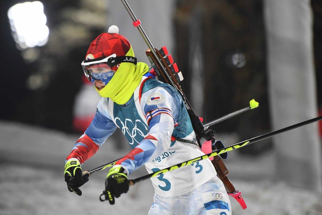 Veronika Vítková začala stíhačku na 3. místě