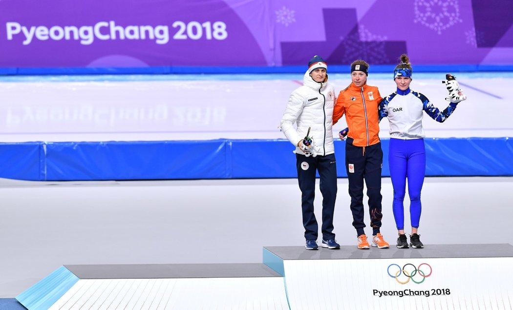 Stupně vítězů? Vystoupaly na ně zástupkyně Česka, Nizozemska a ruských sportovců