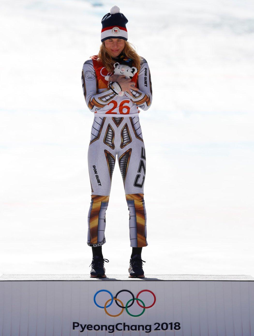 Gratulace, Ester! Česká lyžařka je v Koreji jedničkou na Super-G