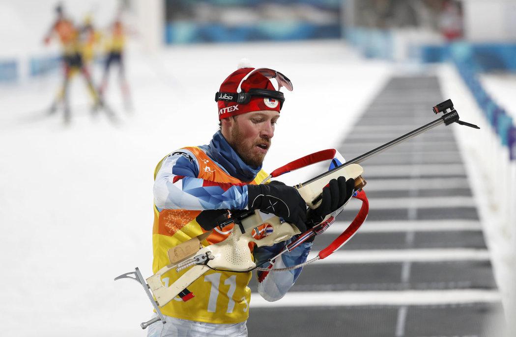 Jaroslav Soupup se na střelnici trápil