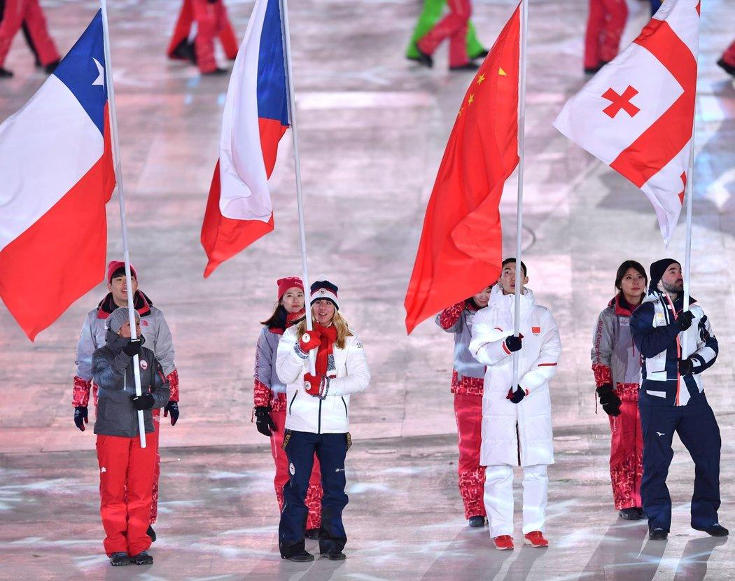 Českou vlajkonoškou na závěrečném ceremoniálu ZOH v Pchjongčchangu byla Ester Ledecká