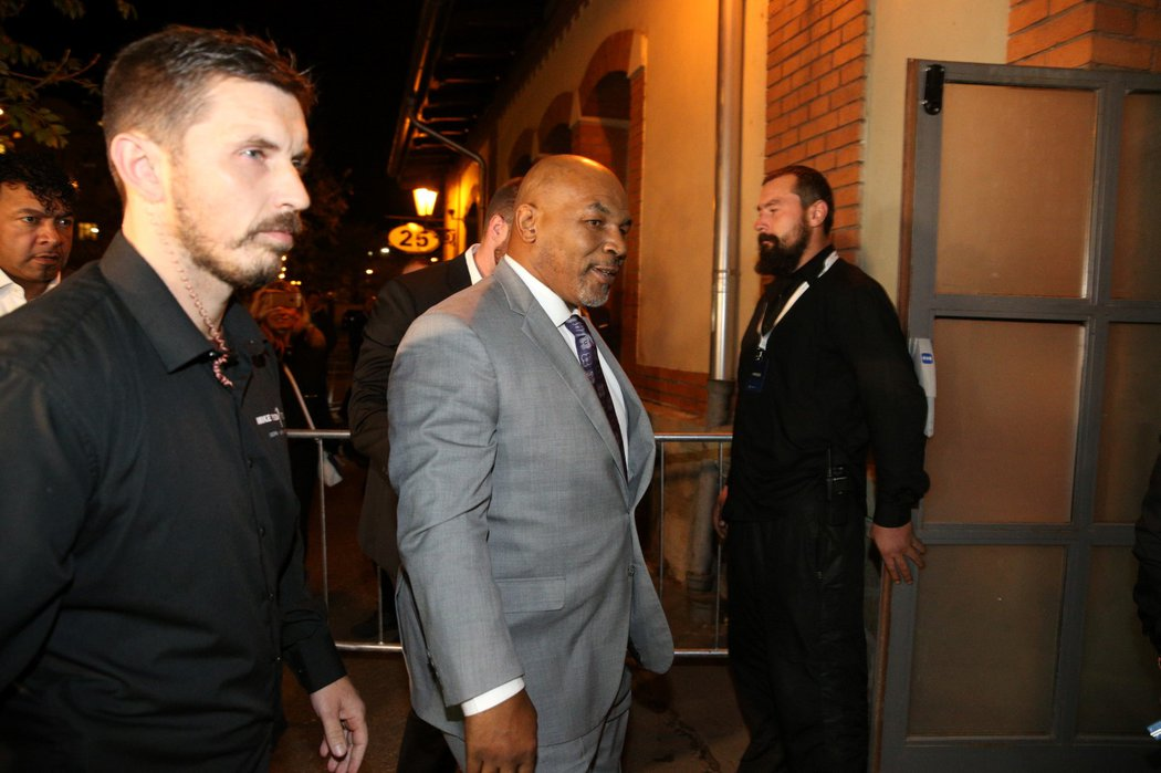 Slavný boxer Mike Tyson dorazil do Prahy