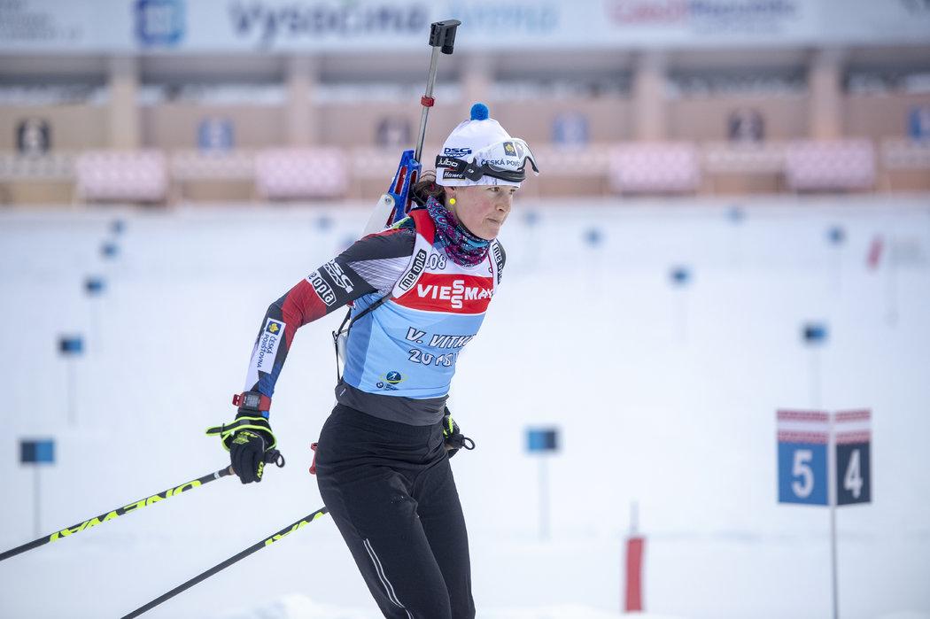 Veronika Vítková při tréninku v Novém městě na Moravě