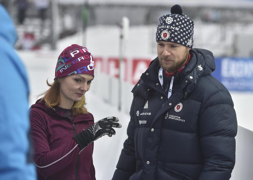 Matt Emmons s manželkou Kateřinou při biatlonovém Světovém poháru v Novém Městě na Moravě