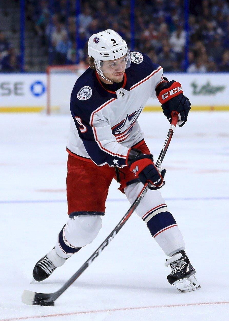 Artěmij Panarin, hvězda hokejistů Columbus Blue Jackets