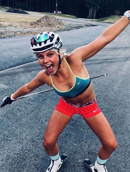 To je jízda! Česká lyžařka Barbora Havlíčková během letní dřiny