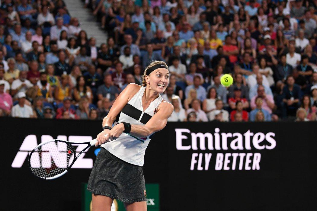 Petra Kvitová bojuje na Australian Open o finále proti Američance Collinsové