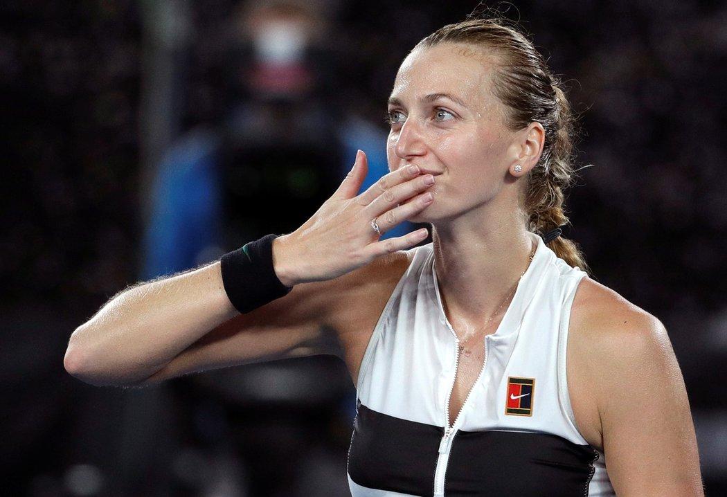 Česká tenistka Petra Kvitová po výhře v semifinále Australian Open