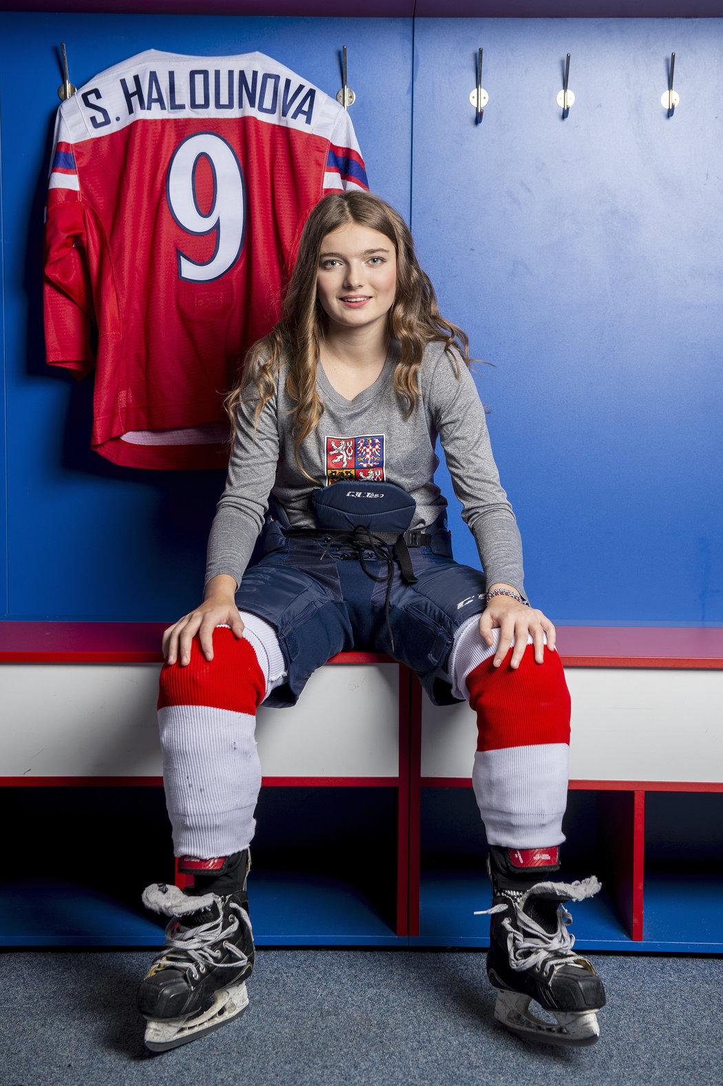 Vycházející star českého hokeje Sandra Halounová