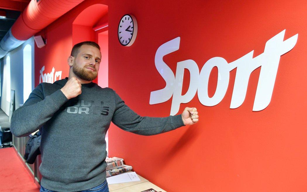 Patrik Kincl na návštěvě v redakci Sportu