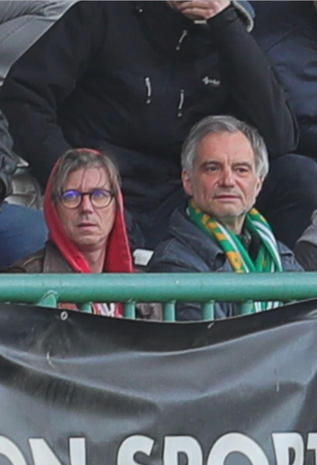 Jiří Strach (velvo) s Ivanem Trojanem vyrazili na fotbal