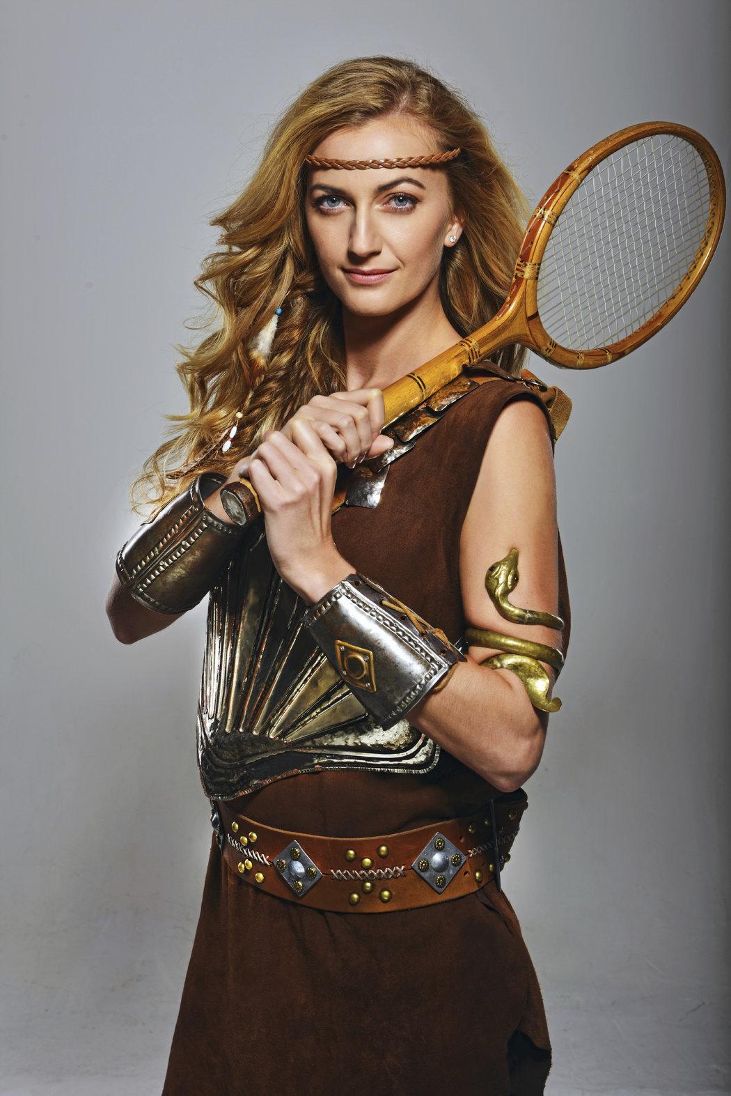 Petra Kvitová jako princezna bojovnice Xena