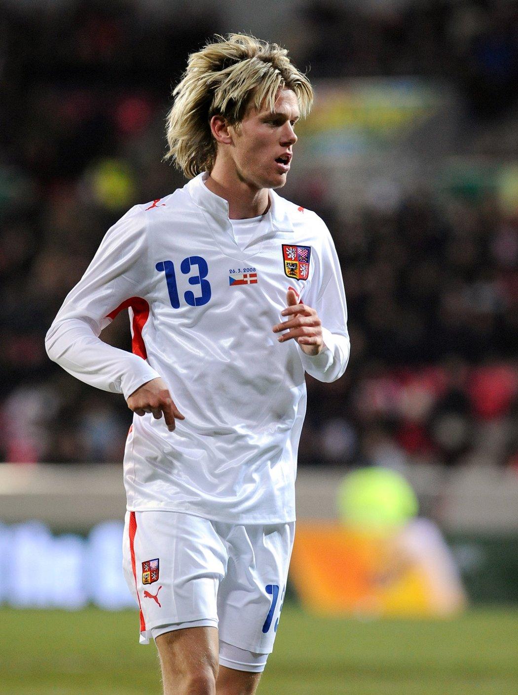 Marek Střeštík si zahrál v reprezentaci proti Dánsku