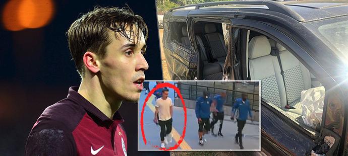 Poslední záběry Josefa Šurala před tragickou dopravní nehodou, po níž osmadvacetiletý fotbalový reprezentant přišel o život!